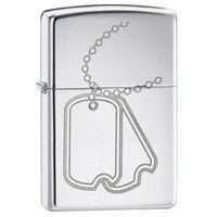 Фото Зажигалка Zippo 24836 DOG TAG HIGH POLISH CHROME