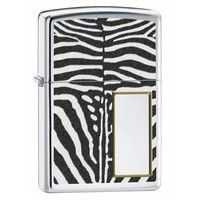 Фото Зажигалка Zippo 28046 LIGHTER ZEBRA PRINT POLISHED CHROME