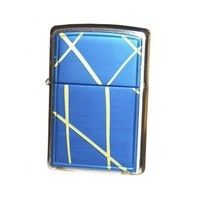 Фото Зажигалка Zippo 20177 STRING PAINT - BLUE BRUSHED CHROME
