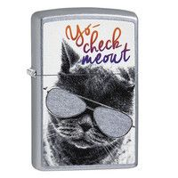 Фото Зажигалка Zippo 207 Cat With Glasses Design 29619