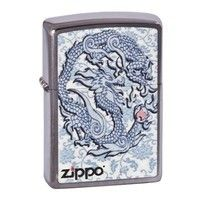 Фото Зажигалка Zippo 200.593 Dragon Reg Brush Chrome