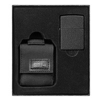 Фото Зажигалка с чехлом Zippo 236 Blk Crackle Ltr Tactical Pouch OD Black GS